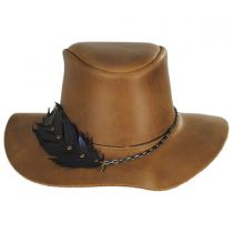 Boheme Leather Outback Hat in
