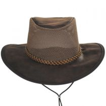 Monterey Bay Breeze Leather and Mesh Hat in