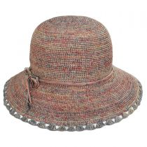 Baja Crocheted Straw Cloche Hat alternate view 6