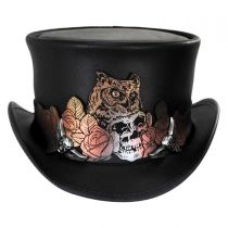 Mortality Leather Top Hat in