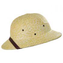 Toyo Straw Pith Helmet - Tan/White in