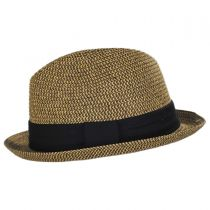 Heather Packable Toyo Straw Trilby Fedora Hat in