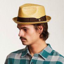 Castor Sewn Toyo Straw Trilby Fedora Hat in