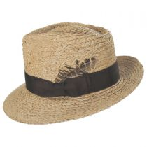Crosby Raffia Straw Fedora Hat in