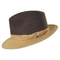 Hatfield Hemp Straw Fedora Hat in