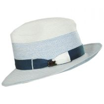 Toulouse Milan Hemp Straw Fedora Hat alternate view 3