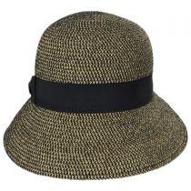 Tweed Braid Toyo  Straw Cloche Hat alternate view 2