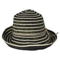 Metallic Ribbon Cloche Hat in