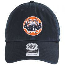 Houston Astros MLB Cooperstown Clean Up Strapback Baseball Cap Dad Hat in