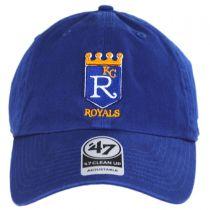 Kansas City Royals MLB Cooperstown Clean Up Strapback Baseball Cap Dad Hat alternate view 2