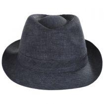 Linen Delave Trilby Fedora Hat in