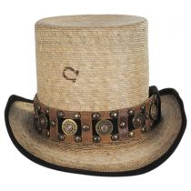 Quick Draw Palm Leaf Straw Top Hat in