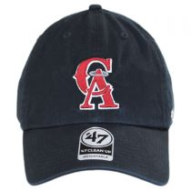 Los Angeles Angels of Anaheim MLB Cooperstown Clean Up Strapback Baseball Cap Dad Hat alternate view 2