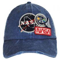 Iconic NASA Distressed Strapback Baseball Cap Dad Hat alternate view 2
