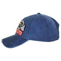 Iconic NASA Distressed Strapback Baseball Cap Dad Hat alternate view 3