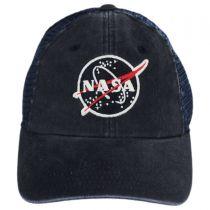 NASA Raglan Bones Trucker Strapback Baseball Cap Dad Hat alternate view 2