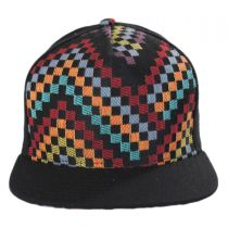 Black Checkered Snapback Baseball Cap in