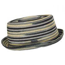 Spacedyed Toyo Straw Braid Pork Pie Hat in