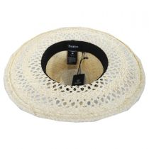Hampton Raffia Straw Fedora Hat alternate view 4