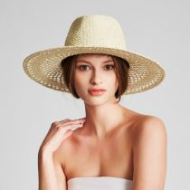 Hampton Raffia Straw Fedora Hat alternate view 5