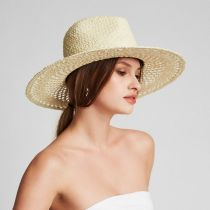 Hampton Raffia Straw Fedora Hat alternate view 6