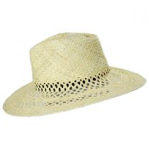 Hampton Raffia Straw Fedora Hat in