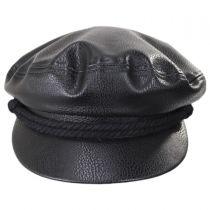 Vegan Leather Fiddler Cap in