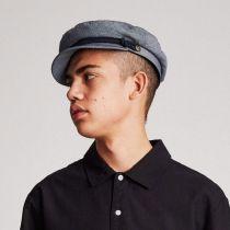 Micro Herringbone Cotton Fiddler Cap in