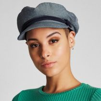 Micro Herringbone Cotton Fiddler Cap alternate view 6