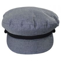 Micro Herringbone Cotton Fiddler Cap alternate view 8