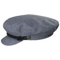 Micro Herringbone Cotton Fiddler Cap alternate view 9