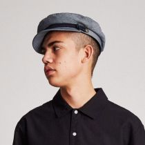 Micro Herringbone Cotton Fiddler Cap alternate view 11