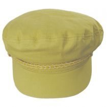Leather Band Cotton Fiddler Cap alternate view 2