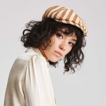 Brood Striped Cotton Blend Newsboy Cap in
