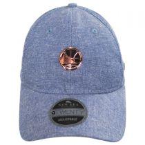 Golden State Warriors 9Twenty Badged Strapback Baseball Cap Dad Hat alternate view 2