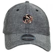 Atlanta Hawks 9Twenty Badged Strapback Baseball Cap Dad Hat alternate view 2