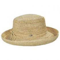 Crocheted Raffia Straw Boater Hat - Petite alternate view 3