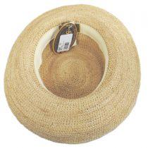 Crocheted Raffia Straw Boater Hat - Petite alternate view 4