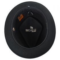 Terry Punk Ave Wool Felt Diamond Crown Fedora Hat in