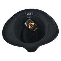 Detroit Wool Felt Trilby Fedora Hat - Black alternate view 19