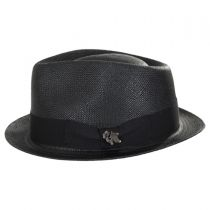 Boston Panama Straw Trilby Fedora Hat alternate view 3