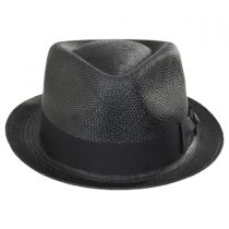 Boston Panama Straw Trilby Fedora Hat in