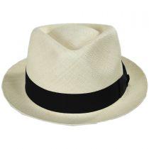 Boston Panama Straw Trilby Fedora Hat in