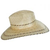 Puebla Palm Leaf Straw Wide Brim Fedora Hat in