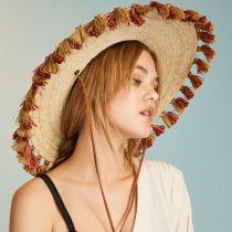 Bells Palm Leaf Straw Safari Fedora Hat in