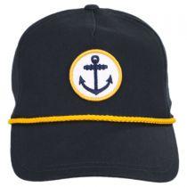 Anchor Snapback Baseball Cap in