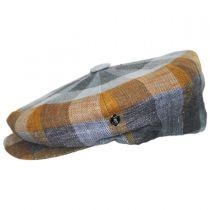 Herringbone Squares Silk and Linen Newsboy Cap alternate view 7