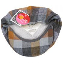 Herringbone Squares Silk and Linen Newsboy Cap alternate view 8