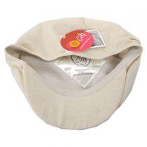 Summer Herringbone Linen and Cotton Newsboy Cap in