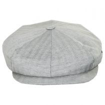 Summer Herringbone Linen and Cotton Newsboy Cap alternate view 6
